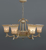Anne Chandelier in Brown & White by Amberville