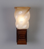 Angelina Wall Light in Brown & White by CasaCraft