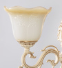 Aaliyah Chandelier in White & Gold by Bohemiana