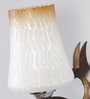 Bogot Wall Light in Brown & White by CasaCraft