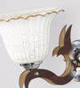 Adria Wall Light in Brown & White by CasaCraft