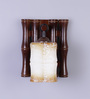 Anahi Wall Light in Brown & White by CasaCraft