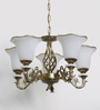Bartlam Chandelier in White by Amberville