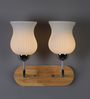 Amancio Wall Light in White by CasaCraft