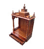 Afydecor Brown Sagwaan Temple with 1 Drawer