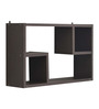 Afydecor Brown Plywood Rectangular 2-square Wall Shelf