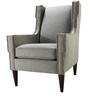 Modern Wingback Chair with Conical Wooden Legs by Afydecor