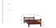 Agastya Single Size Bed in Honey Oak Finish by Mudramark