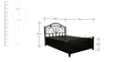 Agro Metal Single Bed with Hydraulic Storage in Black Colour by Diamond Interiors