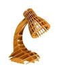 AIDA Lattice Beige Wooden Table Lamp