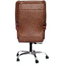 (Free Kid Chair)Ajax Executive High Back Chair in Brown Color By VJ Interior