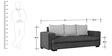 Alexandera Three Seater Sofa in Black & Silver Colour by Auspicious