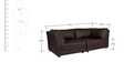 Alia Deep Comfortable Two Seater Sofa in Brown Leatherette by Furny