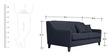 Alia Superb Three Seater Sofa in Bluish Grey Colour by Furny