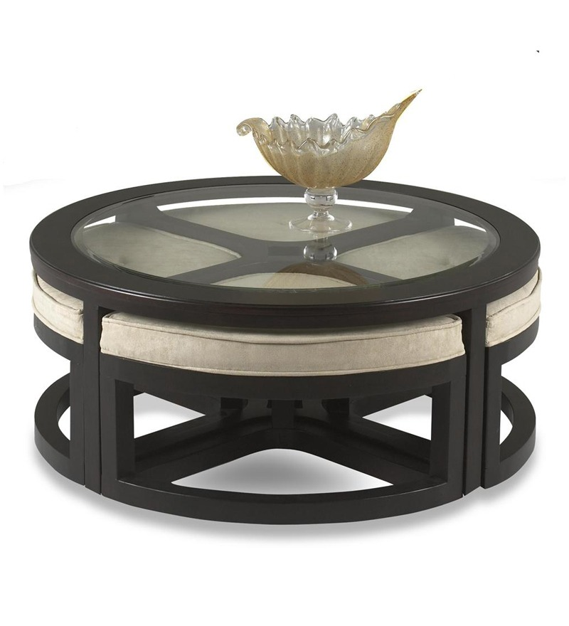 Round Table With Stools: Alexander Round Coffee Table With 4 Stools Best Deals With