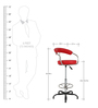 Albana Bar Chair in Red Color by The Furniture Store
