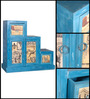 Daft Cabinet in Azure Blue Finish by Bohemiana