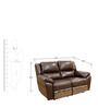 Alexander Half Leather Two Seater Electric Recliner in Brown Colour by HomeTown