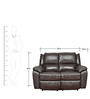 Alexander Half Leather Two Seater Recliner by HomeTown