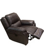 Alexander Single Seater Electric Reciner in Dark Brown Colour by HomeTown