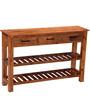 Logan Console Table in Warm Walnut Finish by Woodsworth