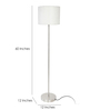 Alhambra Floor Lamp in Off White by CasaCraft