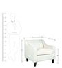 Alia Superb Armchair in Cream Colour by Furny