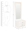 Alicia High Gloss Dresser With Mirror in White Colour by HomeTown