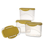 All Time Delite Yellow Rectangle 1L Storage Container - Set of 4