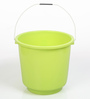 All Time Plastic 16 L Green Buckets with Handle - Set of 2