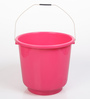 All Time Plastic 18 L Pink Buckets with Handle - Set of 2