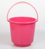 All Time Plastic 20 L Pink Buckets with Handle - Set of 2