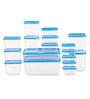 All Time Polka Blue Rectangle Storage Container - Set of 17