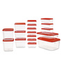 All Time Polka Red Rectangle Storage Container - Set of 17