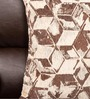 Almanzo One Seater Sofa with Throw Cushions in Brown Colour by CasaCraft