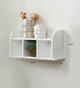 Almundina Contemporary Wall Shelf in White by CasaCraft