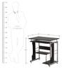 Alpha Computer Table in Black Walnut Finish by Nilkamal