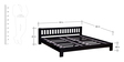 Amarillo Queen Size Bed in Espresso Walnut Finish by Woodsworth