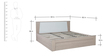 Ambra Queen Bed with Hydraulic Storage in White Finish by HomeTown