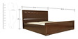 Amelia Solidwood King Bed with Hydraulic Storage in Brown Colour by HomeTown