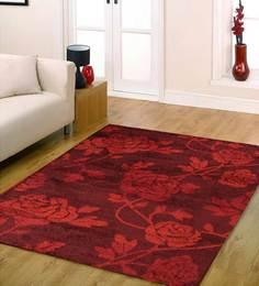Get best deal for Ambadi Burgundy Floral European Floor Rug AmbadiAmbadi at Compare Hatke