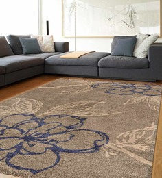 Ambadi Light Gray Floral European Floor Rug