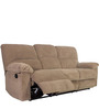 Amaze (3 + 1 +1) Recliner Sofa Set in Light Brown Colour by Evok