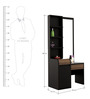 Amazon Dressing Table in Wenge Colour by Spacewood