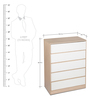 Ambra Chest Of Five Drawers in White Colour by HomeTown