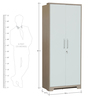 Ambra Two Door Wardrobe in White & Larch Colour by HomeTown