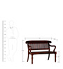 Symes Bench in Honey Oak Finish by Amberville