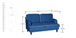 Anabel Two Seater Sofa in Columbia Blue Colour by CasaCraft