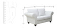 Anapolis Two Seater Sofa in Pearl White  Colour by CasaCraft