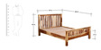 Oroville Queen Size Bed in Natural Sheesham Finish by Woodsworth